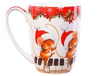 """Чашка Lefard """"Новогодние мышки"""" 400 мл, 985-049"""