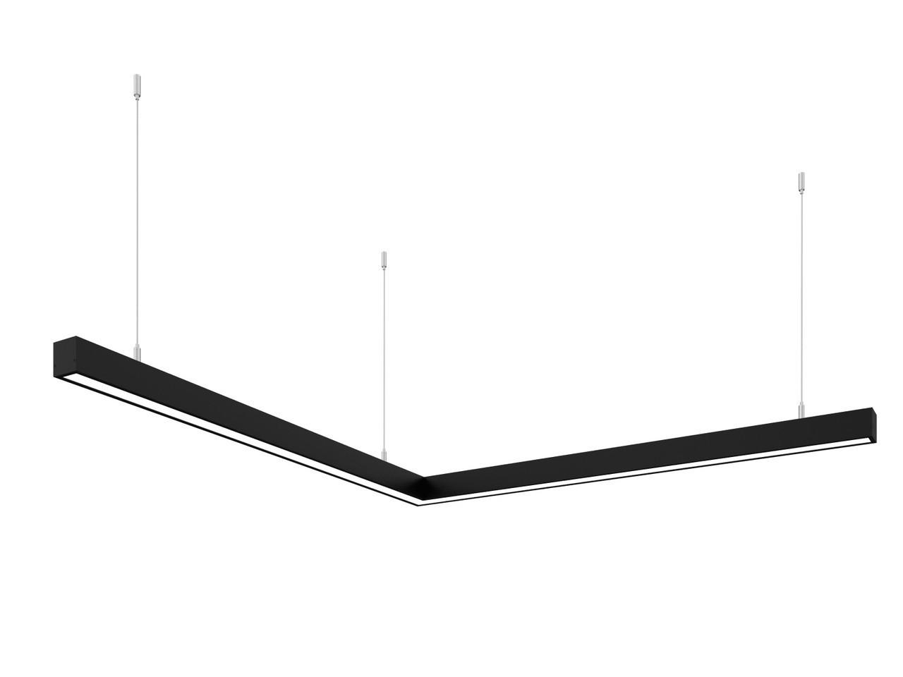 Линейный светодиодный светильник Z-LED 80Вт угол черный (800*800)