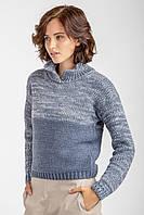 Теплый свитер с воротником - стойкой