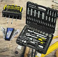 Три Набора инструмента(108 ед. Сталь 70006+Набор  отверток 18 шт Cталь 49044+Набор ключей BestTools BT 40012)