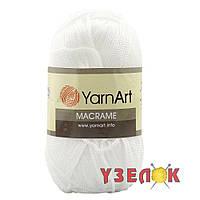 YarnArt Macrame №154 белый, фото 1