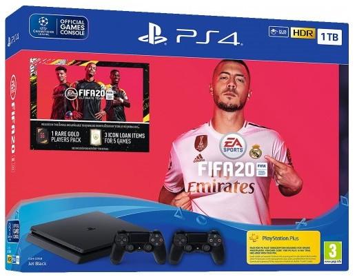 Игровая приставка Sony PlayStation 4 Slim (PS4 Slim) 1TB + FIFA 20 + DualShock 4