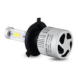 LED-лампы H4 6500K, 8000Lm с охлаждением S2+ПОДАРОК!
