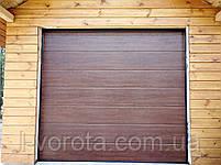 Секционные гаражные ворота DoorHan 3000×2500 (цвет темный дуб), фото 2