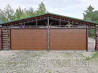 Секционные гаражные ворота DoorHan 3000×2500 (цвет темный дуб), фото 4