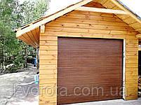 Секционные гаражные ворота DoorHan 3000×2500 (цвет темный дуб), фото 3