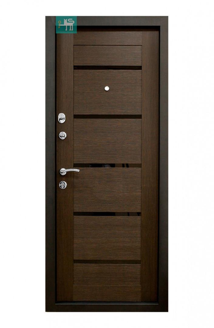 Дверь ПК-180/161 МДФ/МДФ Венге горизонт тёмный/ Царга венге (960)
