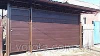 Секционные гаражные ворота DoorHan ш3000мм, в2000мм (цвет махагон), фото 2