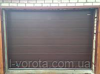 Секционные гаражные ворота DoorHan ш3000мм, в2000мм (цвет махагон), фото 3