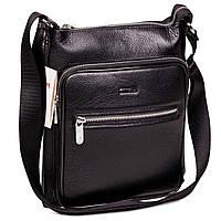 Мужская сумка Karya 0594-45 через плечо кожаная черная