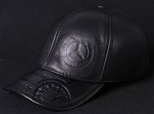 Модель №68.1 Кожаная кепка. Бейсболка Mersedes