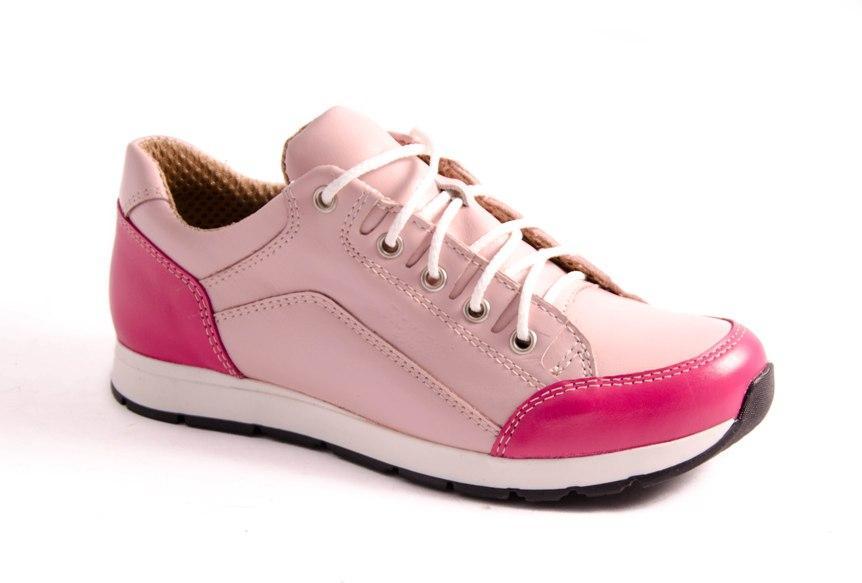 Кроссовки подростковые розовые Romani 7241127 р.32-37