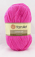 YarnArt Cotton Soft №59 насыщенно розовый