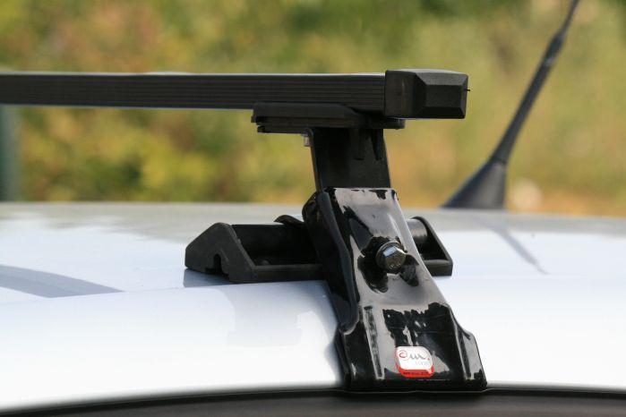 Багажник автомобільний на дах Amos Dromader D-4, балки 1,3 м / Автобагажник на крышу Амос Дромадер Д-4, 130 см