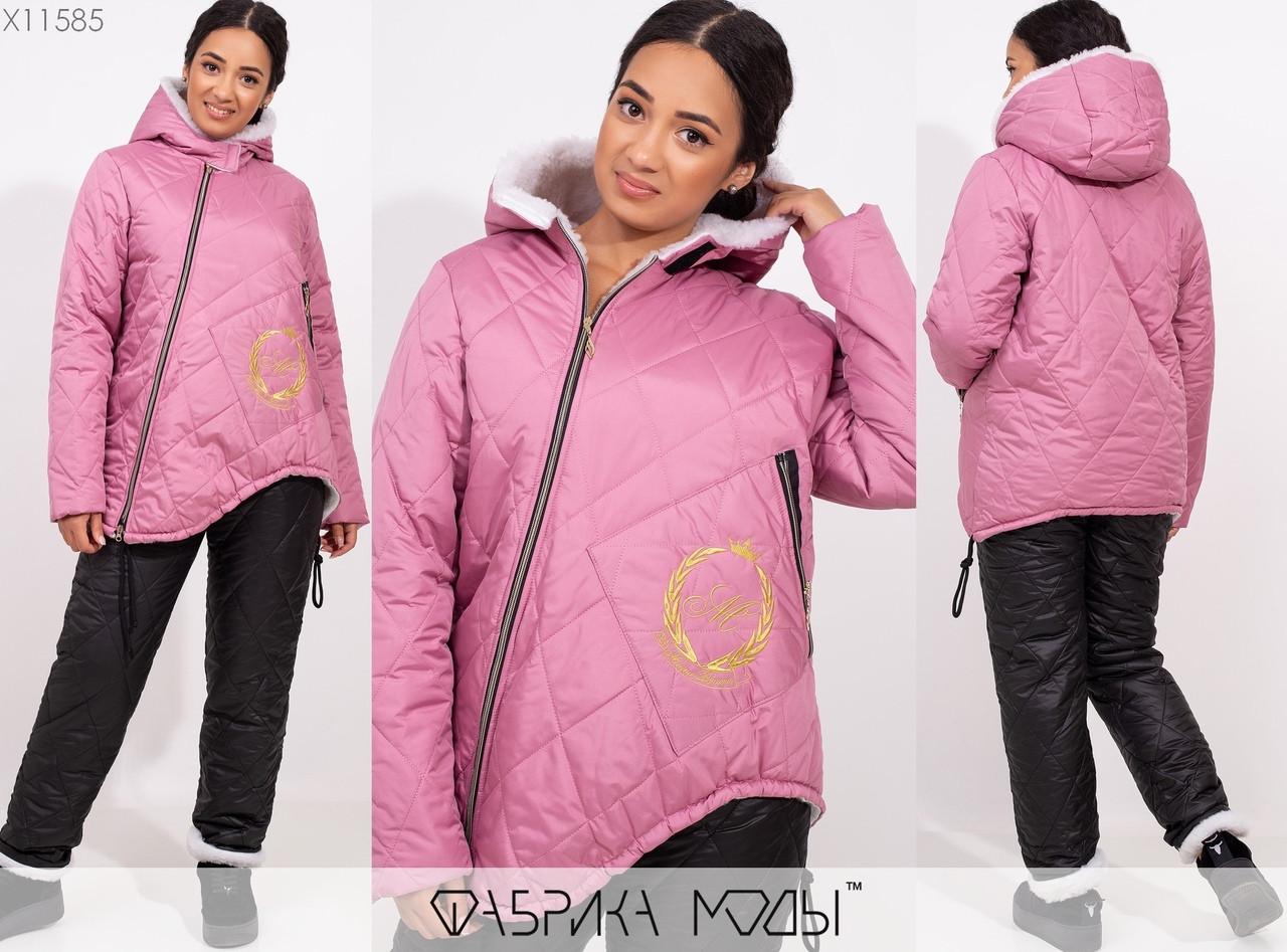 Теплый зимний синтепонон спортивный лыжный костюм размеры: 50-52, 54-56