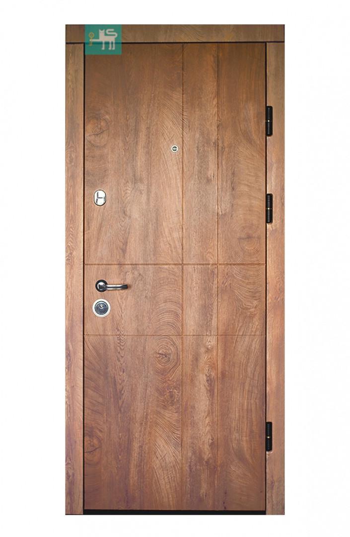 Дверь ПК-185 Элит МДФ/МДФ Спил дерева коньячный/ Медовый (860)