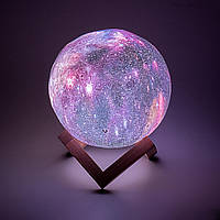 Настольный светильник Magic 3D Moon Light RGB Space Purple 15 см + пульт