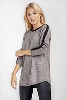 Повседневная женская кофточка-туника светло серого цвета, фото 1