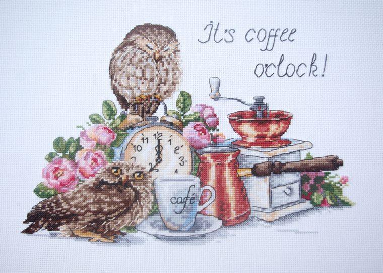 """Набор для вышивания крестом """"Время пить кофе"""" Мережка"""
