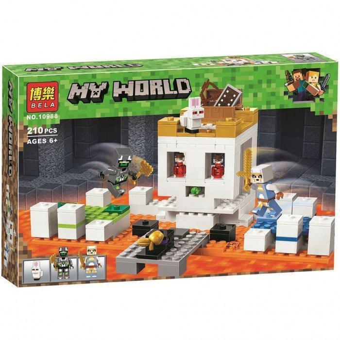 Конструктор Bela My World Minecraft 10988 Арена-Череп 210 деталей