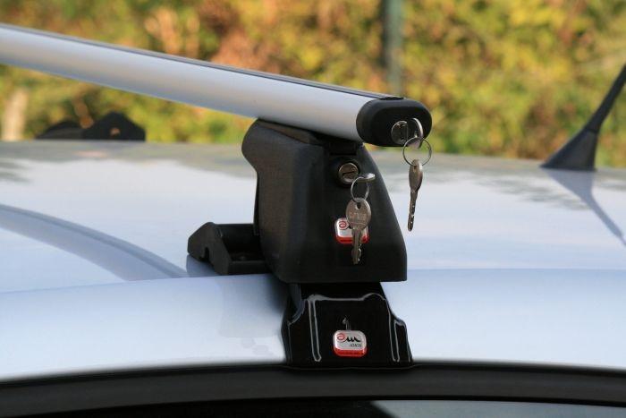 Багажник на дах автомобіля Amos Dromader D-5 Aero Plus / Автобагажник на крышу Амос Дромадер Д-5 Аэро Плюс