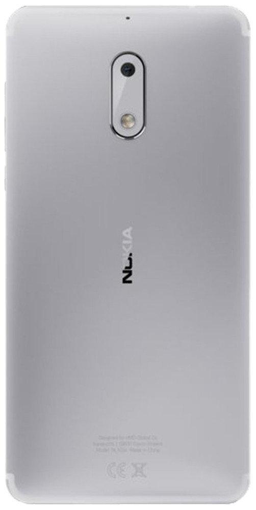 Задняя крышка Nokia 6 Dual Sim TA-1021, серебристая, Оригинал