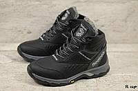 Мужские кожаные зимние ботинки Reebok (Реплика) (Код: R сер  ) ►Размеры [40,41,42,43,44,45], фото 1