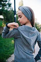 """Ангоровый детский костюм """"BUFE """" с брюками-кюлотами и повязкой (3 цвета), фото 2"""