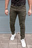 Мужские зауженные джинсы декор застежки.Сл 1639,1640