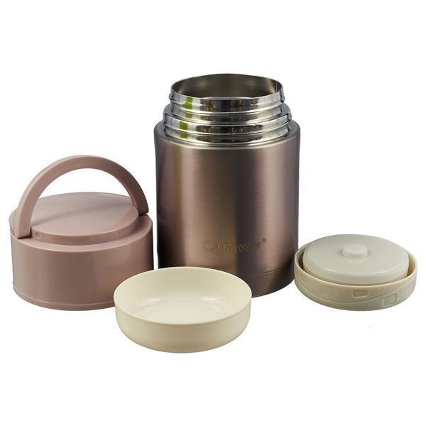 Термос для еды Maestro MR-1636-110 1,1 л вакуумный из нержавеющей стали