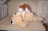 Плюшевый медведь Умка - лежачий 125 см, фото 5
