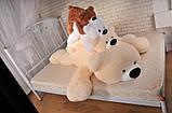 Плюшевый медведь Умка - лежачий 125 см, фото 7