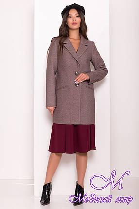 Женское шоколадное осеннее пальто (р. S, M, L) арт. Э-80-10/43963, фото 2