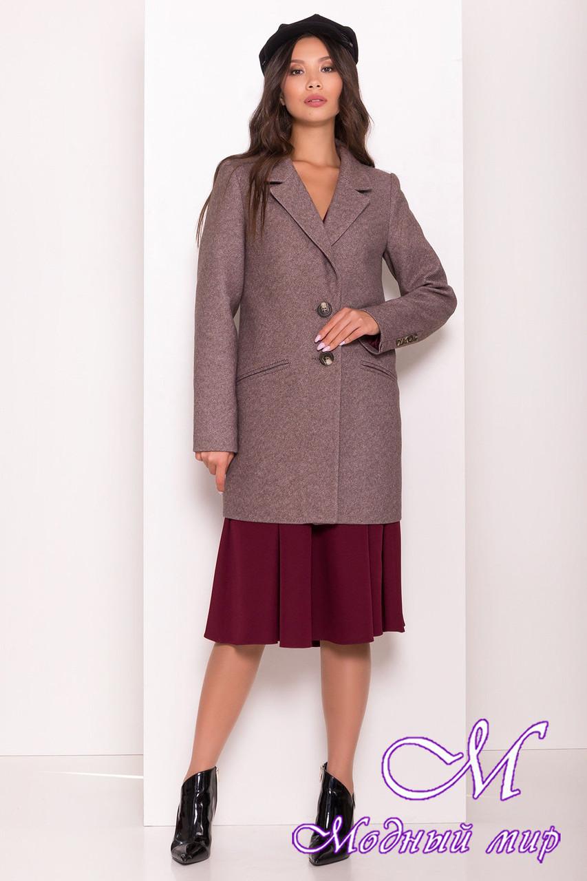 Женское шоколадное осеннее пальто (р. S, M, L) арт. Э-80-10/43963