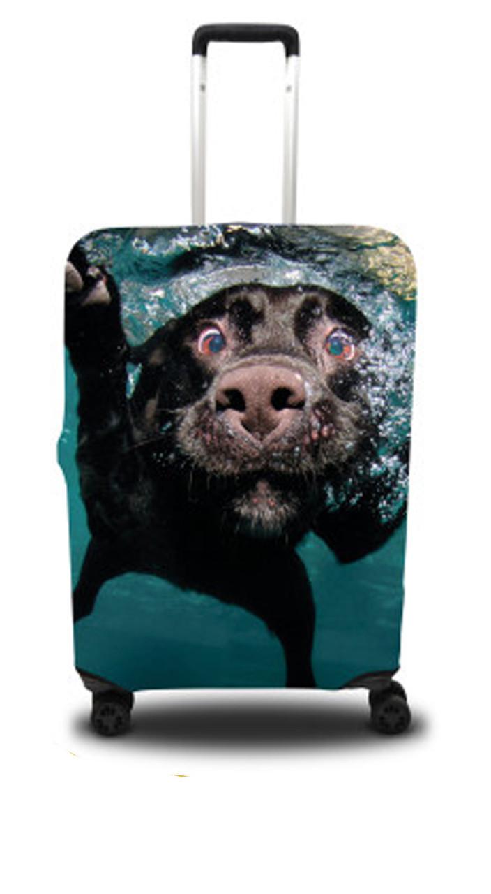 Чохол для валізи собака, чорний /Чехол для чемодана Coverbag собака L черный