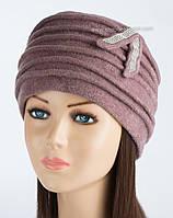 Красивая женская шапка Kartazon-21 цвет светлая сирень