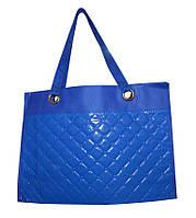 Сумка для покупок Шоппер глянець синя /Сумка для покупок Шоппер глянец синяя