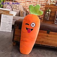 Мягкая игрушка-подушка смайлик Морковка