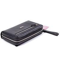 Мужской клатч кожаный черный Butun 018-004-001