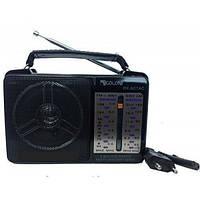 Акустическая система Golon радиоприемник аккумуляторный FM радио колонка с фонариком и USB выходом Чёрный (RX-607), фото 1