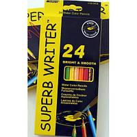 Карандаши акварельные MARCO SUPERB WRITER 24 цвета (4120-24СВ)