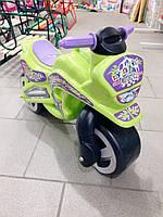 Мотоцикл толокар беговел Kinder Way. Салатовый