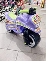 Мотоцикл толокар беговел Kinder Way. Фиолетовый