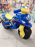 Мотоцикл толокар беговел Долони. Синий