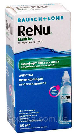 Раствор для линз ReNu MultiPlus 60 мл 240 мл, фото 2