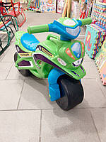 Мотоцикл толокар беговел Долоні. Зеленый