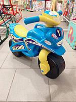 Мотоцикл толокар беговел Долоні. Голубой