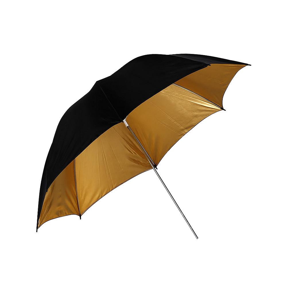 Фото зонт диаметр 84см (33″). Золотой на отражение