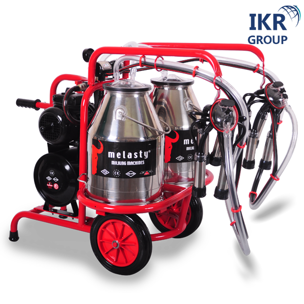 Доїльний апарат для двох корів в два відра Melasty TK 2-2 PK