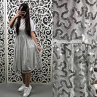 """Стильное Платье-комбинация с футболкой ткань """"Хлопок"""" 44. 46  размер норма"""